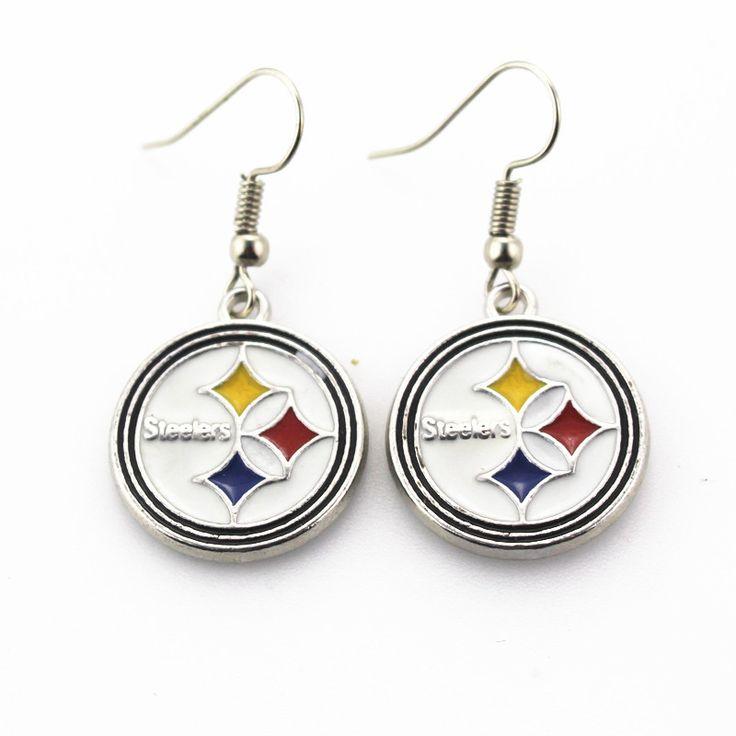 Pittsburgh Steelers NFL team sports earrings women erring USA football team charms jewelry earring 6pair/lot