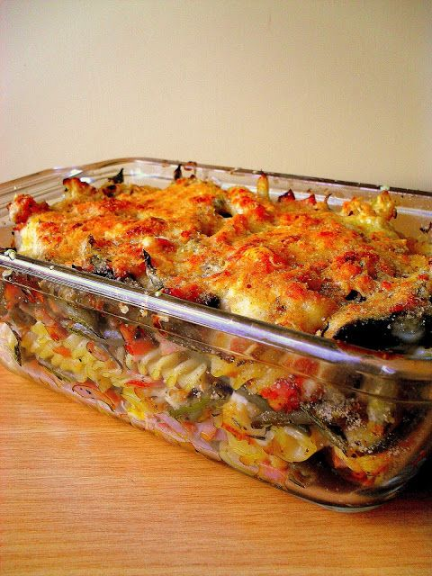 Lekcje w kuchni: Zapiekanka z szynką i fasolką szparagową pod chrup...