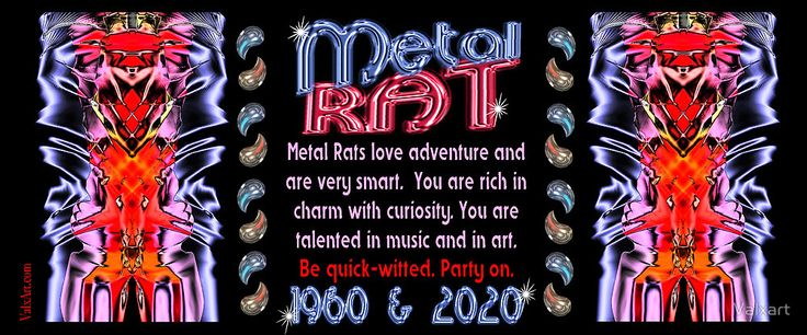 1960 2020 Chinese zodiac born in year of Metal Rat by