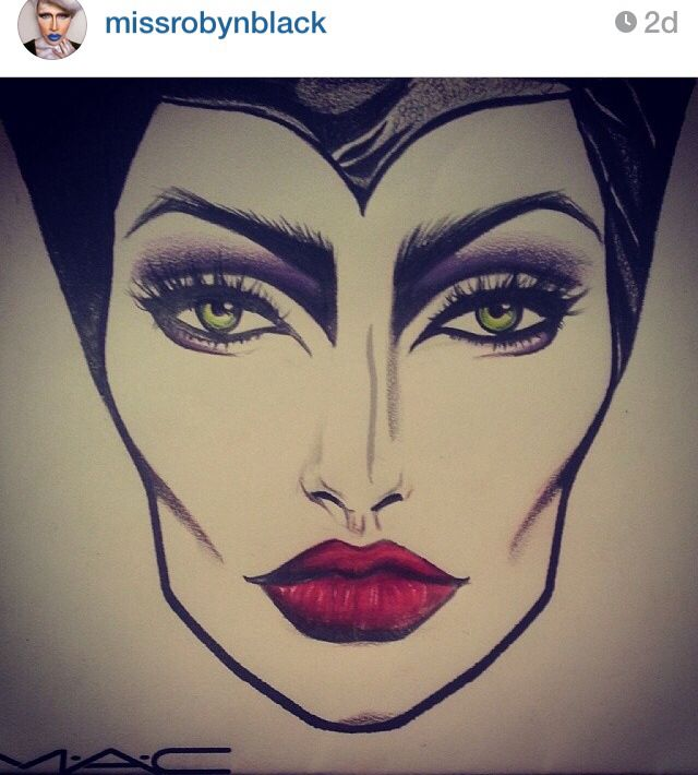 Maleficent face chart. Amazing!