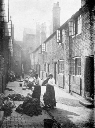 An East End street, c. 1888. This is Jack the Ripper Land - right street, right time.