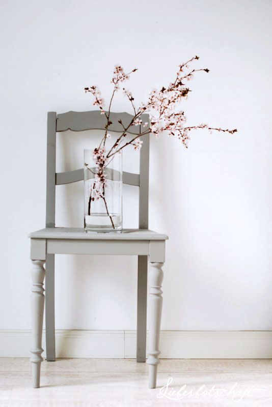 blooming twigs & chair