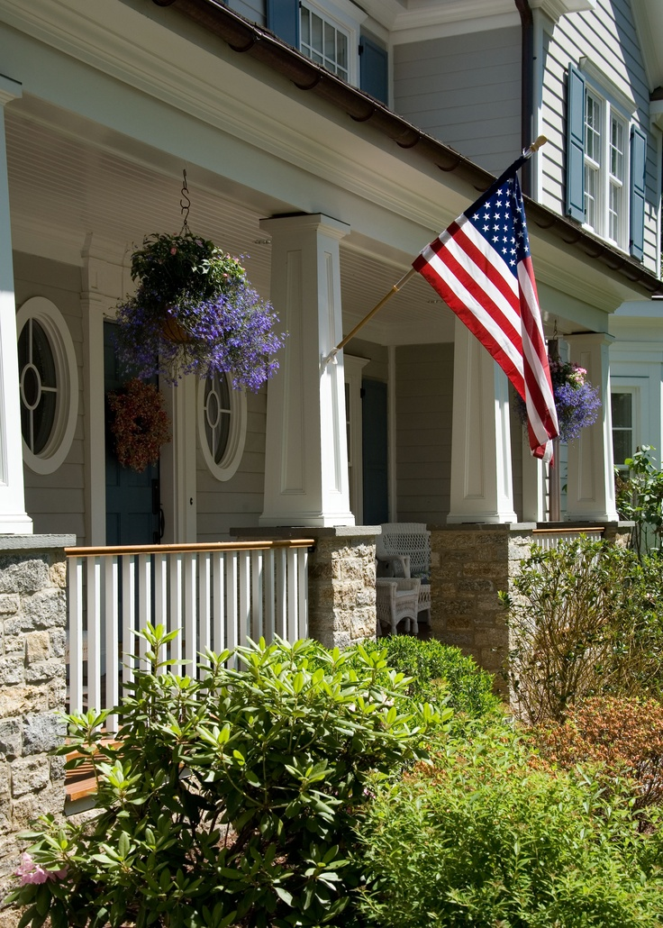 1000 images about exteriors on pinterest colonial house for Colonial house plans with porch