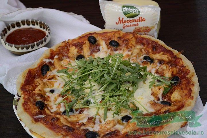 Reteta pizza pollo picanta.Cum se face pizza pollo picanta.Cea mai buna pizza…