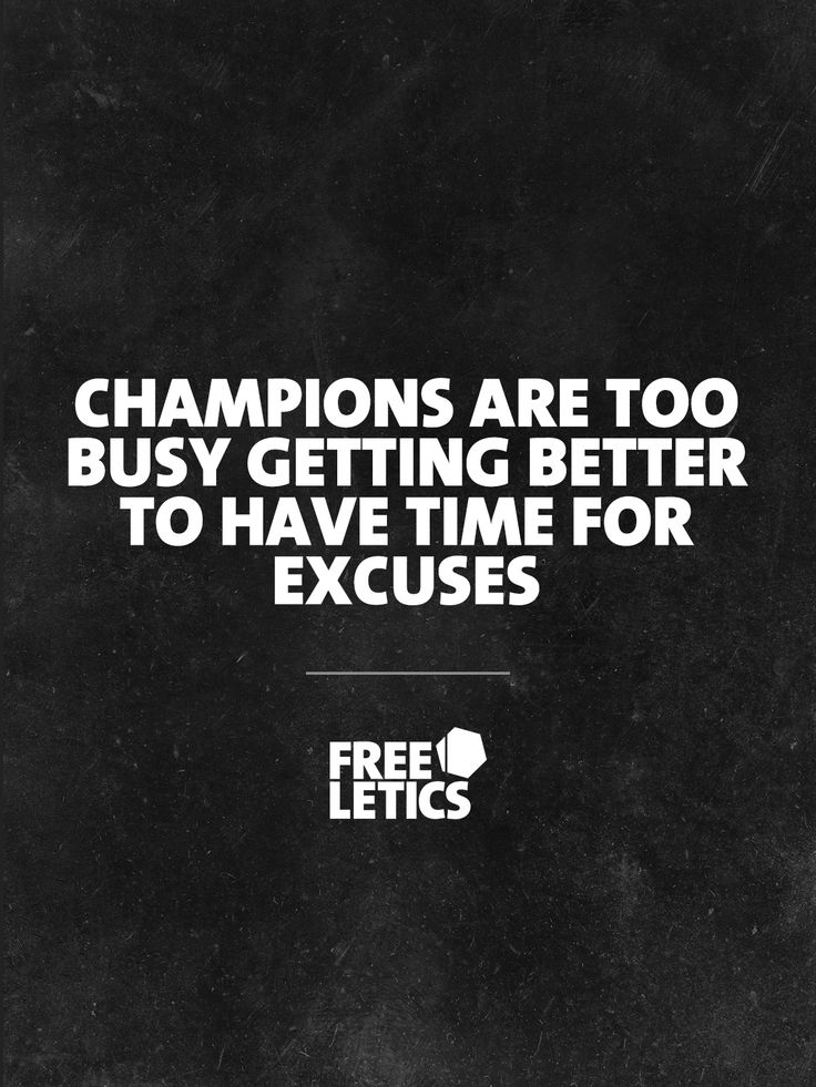 Every Free Athlete is a champion. That's why we don't make excuses. We are to busy getting better ►►►  www.frltcs.com/Motivate #Freeletics