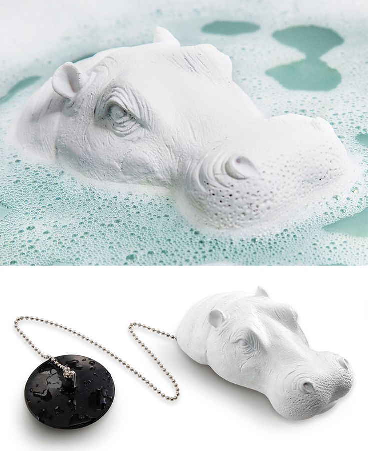 Joe the Hippo Bath Plug............................I don't think I'd want a hippo staring at my while I bathed.