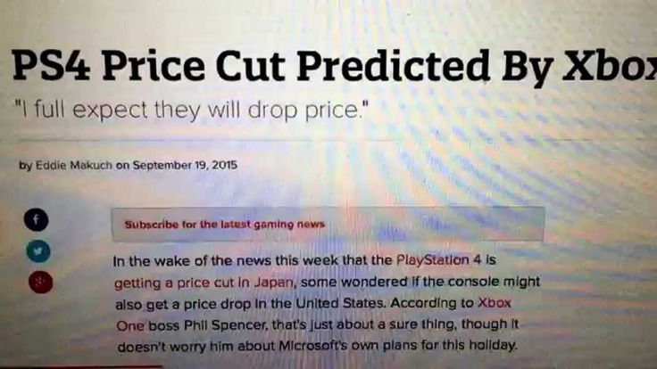PS4 PRICE CUT PREDICTED BY PHIL SPENCER XBOX BOSS