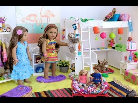 American Girl Doll Lea Clark's Bedroom ~ HD! - YouTube