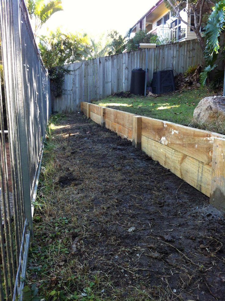 Timber retaining walls www.insideouthandyman.com.au