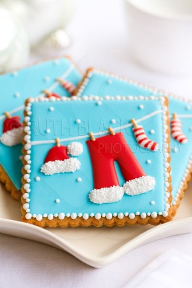 Decorated Christmas cookies - Royalty Free Stock Photo