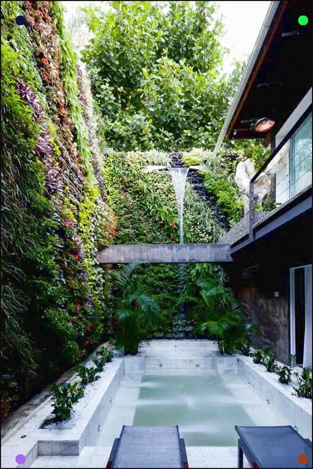 Green Walls Make This Small Outdoor Space At Casa Arif Noor In Rio