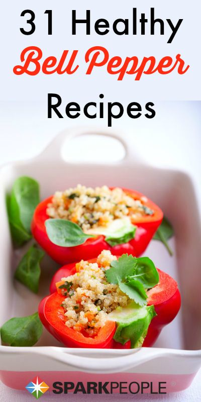 Love peppers? Then you'll love these  healthy recipes!   via @SparkPeople #food #dinner #summer