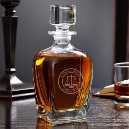 Scales of Justice Draper Whiskey Decanter - click/tap to personalize and buy