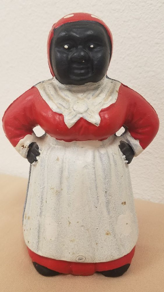 "Vintage Collectable Cast Iron Aunt Jemima Bank 7 1/4"" #2"