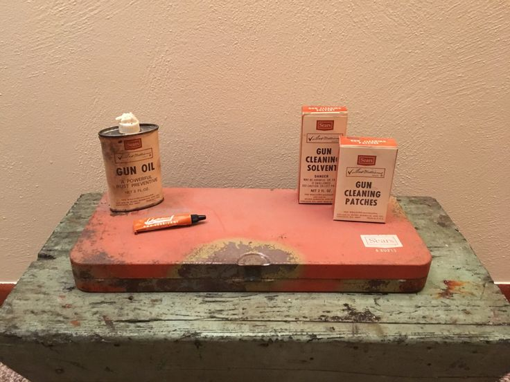 A personal favorite from my Etsy shop https://www.etsy.com/listing/498364585/sears-ted-williams-gun-cleaning-kit