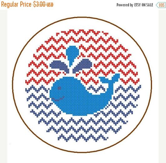 BLACK FRIDAY/CYBER Monday Instant Download Whale by ZindagiDesigns