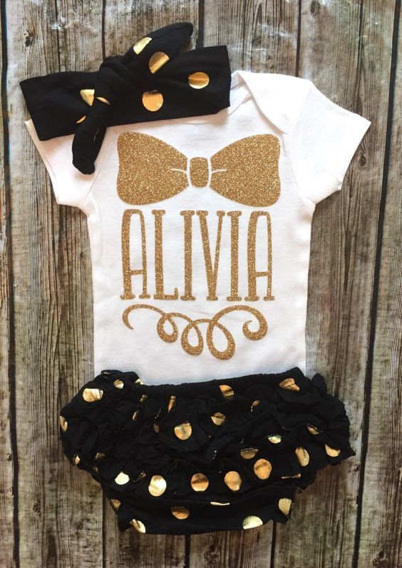 Name Onesies Baby Girl Personalized Onesies Name Shirts - BellaPiccoli