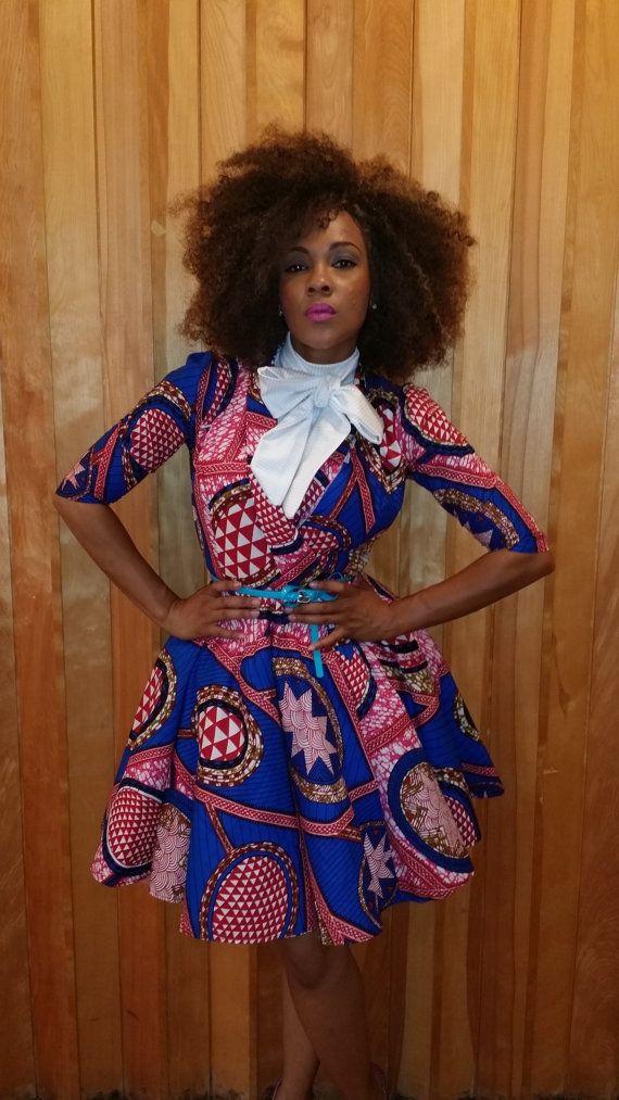 Tabitha Wrap flared dress with detachable false by AkeseStyleLines. #Africanfashion #AfricanClothing #Africanprints #Ethnicprints #Africangirls #africanTradition #BeautifulAfricanGirls #AfricanStyle #AfricanBeads #Gele #Kente #Ankara #Nigerianfashion #Ghanaianfashion #Kenyanfashion #Burundifashion #senegalesefashion #Swahilifashion DK