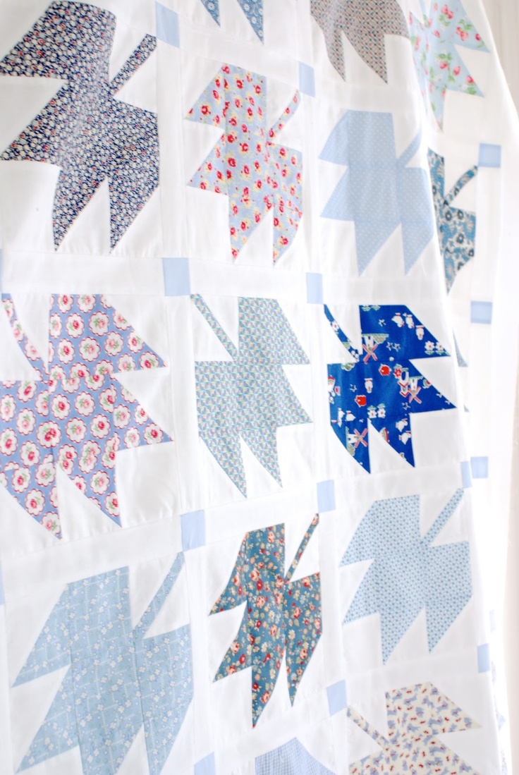 Messyjesse Canadian Maple Leaf Quilt Top 00 Pin And