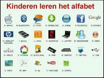Modern alfabet voor kinderen
