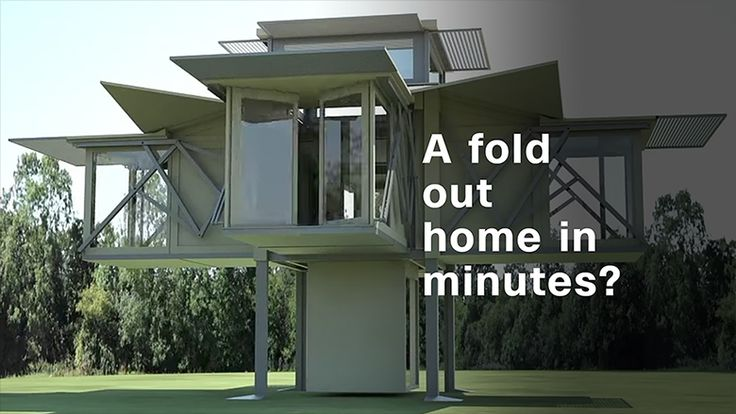 These prefabricated building designs by Ten Fold Engineering start off as big boxes but can end up as a small home, classroom or office at the touch of a button.