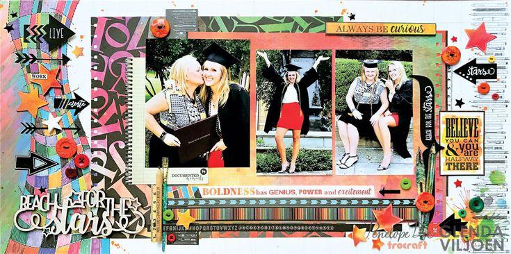 Graduation layout by Glenda Viljoen using the Live & Learn collection.