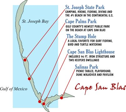 Cape San Blas - Thanks to Gulf County Tourism Development Council http://www.visitgulf.com/
