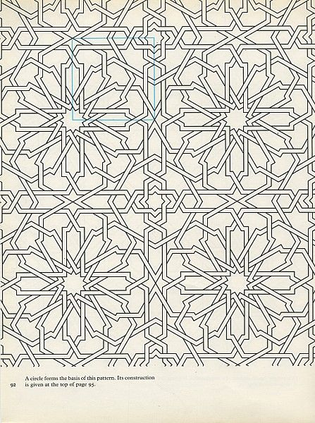 Pattern in Islamic Art - PIA 092 chrysanthemum tiles tiling embellishments