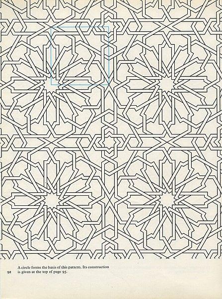 Pattern in Islamic Art - PIA 092 chrysanthemum tiles tiling embellishments