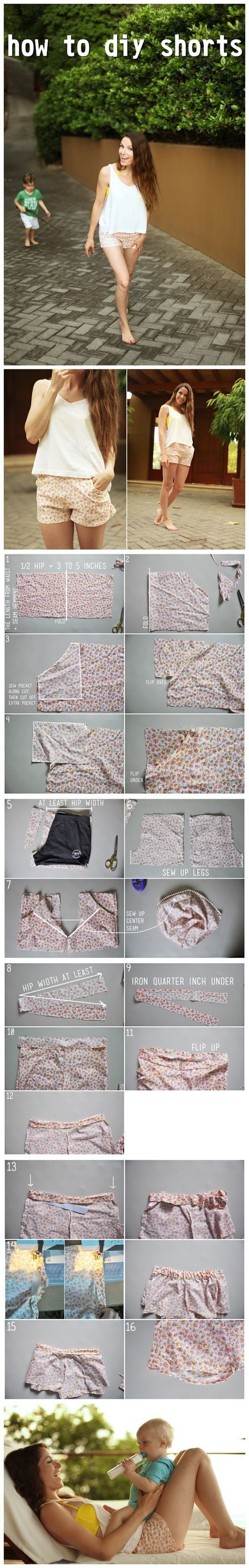How to DIY shorts: http://www.hotdiytutorial.com/tag/shorts/