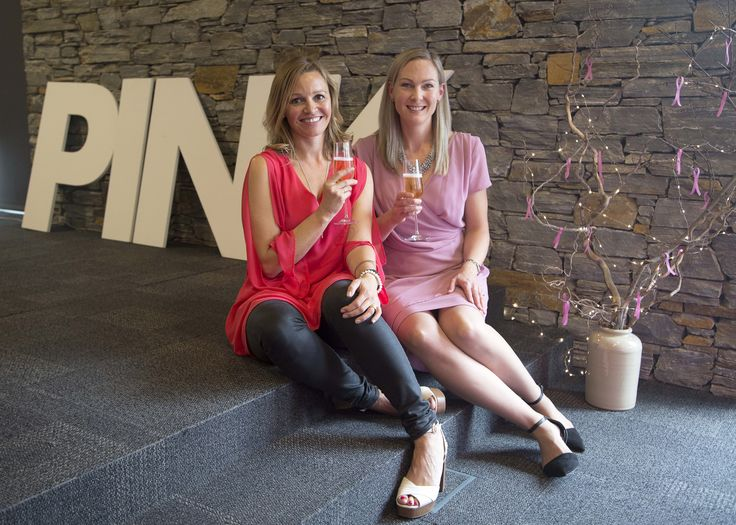 Pink Ribbon Breakfast organisers Jane Sharman & Anna Laming at Peak Functions, May 2017 Photo credit : Paige In Thyme Photography