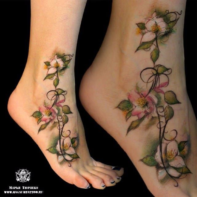 25 best images about flower tattoos on