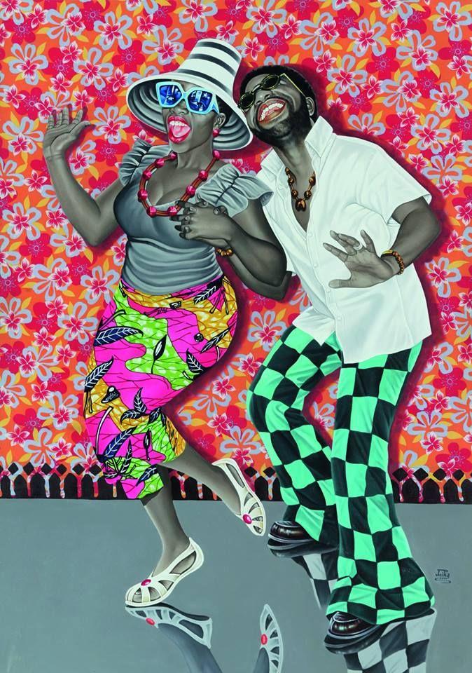 JP Mika, Kiese na kiese (Le Bonheur et la Joie), 2014 | Exposition Beauté Congo 1926-2015, Congo Kitoko à la Fondation Cartier pour l'art contemporain (Paris)