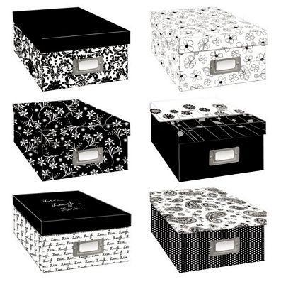 $7 Amazon.com - Pioneer Black & White Photo Storage Box-Six Assorted Designs - Photo Storage Boxes Acid Free