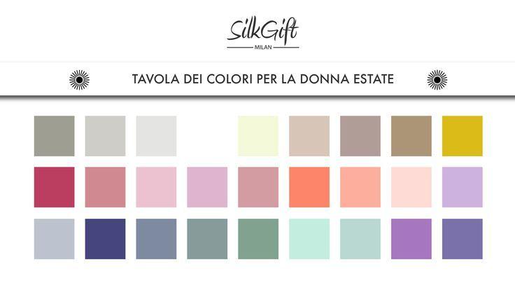 Tavola dei colori per la donna estate --- #consulentedimmagine #personalshopper #silkgiftmilan