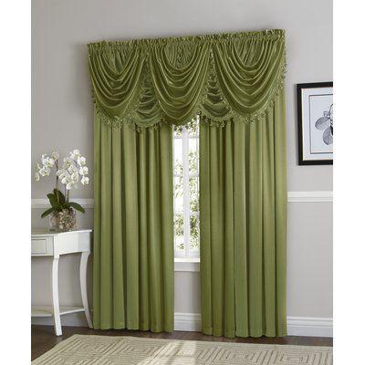 astoria grand weisberg 9 piece faux silk solid blackout rod pocket curtain panels set color