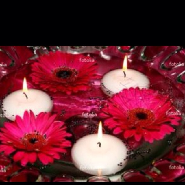 40 best centerpieces images on pinterest centerpiece ideas floating candles gerber daisies centerpiece junglespirit Gallery