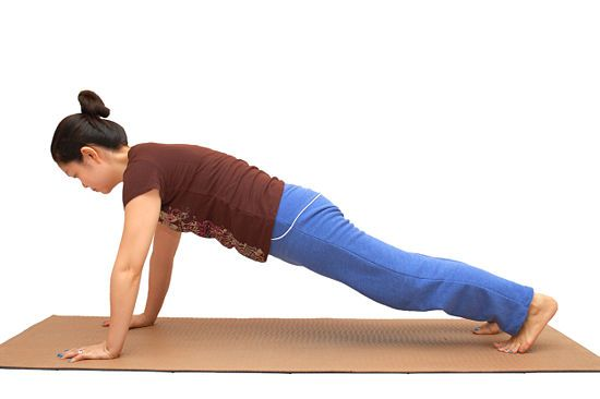 Winter Fitness Challenge -- woman doing a plank