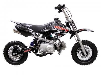 "DIR002 70cc Dirt Bike Semi Automatic Transmission, Keihin Carburetor, Front/Rear Disc Brakes, 10"" Wheels, Seat Height 22.5"" $649.00"