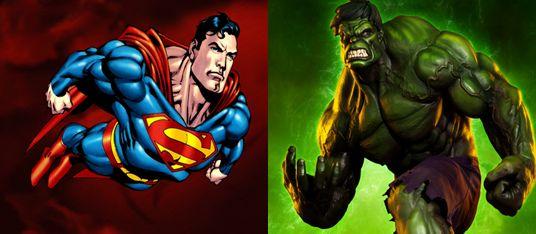 Hulk vs superman fight, comparison and difference.