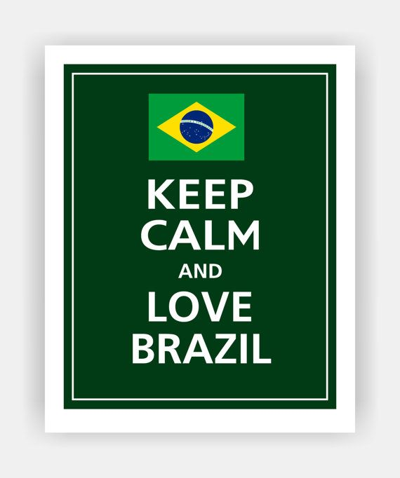 KEEP CALM and Love BRAZIL Print 8x10 Color featured by PosterPop