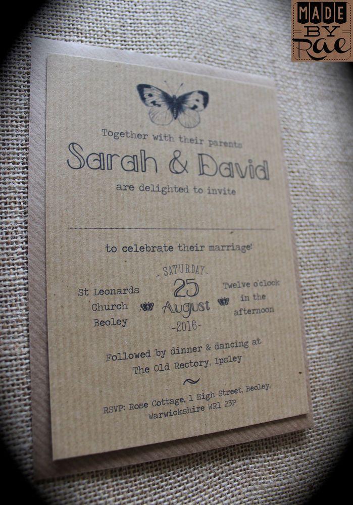 32 best Rustic Kraft Wedding Invitations images on Pinterest ...