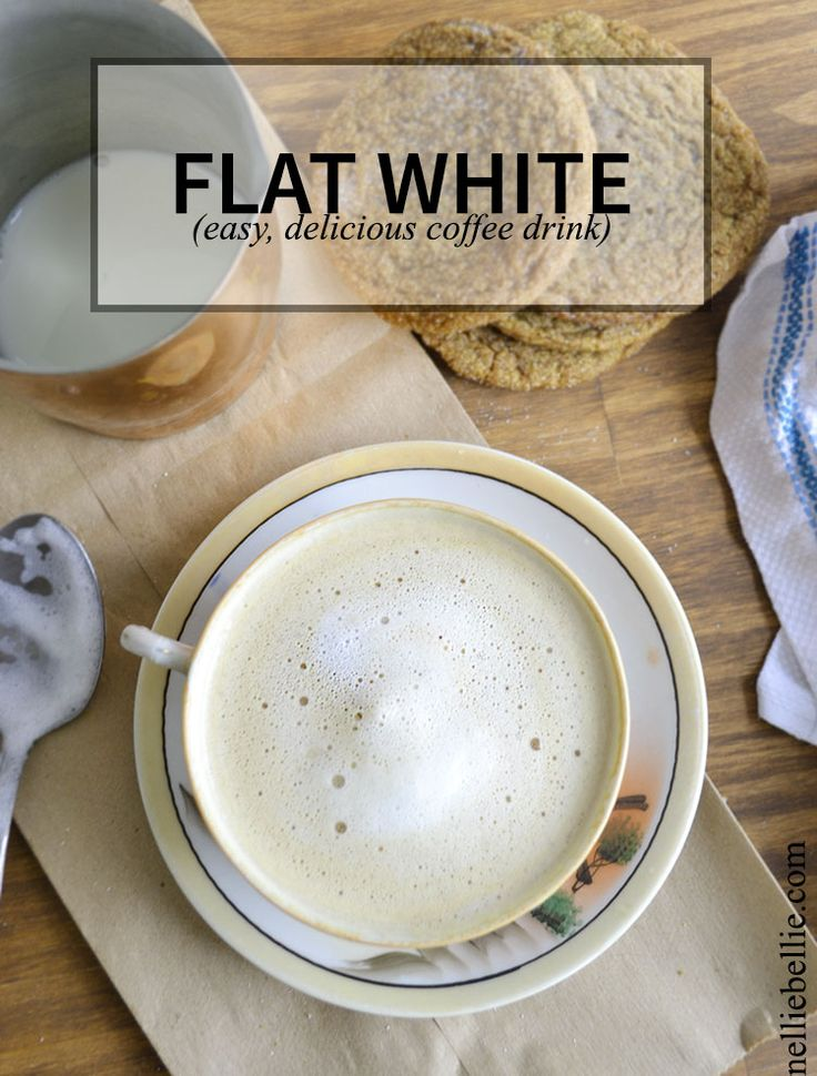 The flat white is a delicious coffee recipe popular in Australia, New Zealand, and South Africa.  #coffee