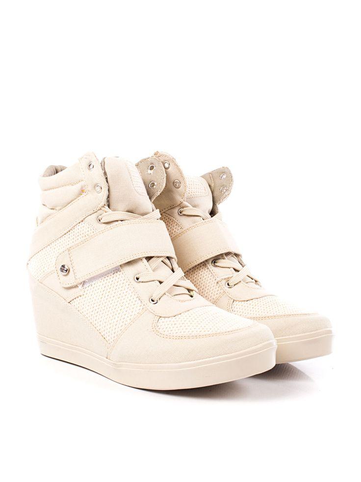 Adquiere en www.clickonero.com.mx ... Tenis Capa de Ozono... Camina con estilo... #fashion #moda #zapatos #tenis #plataforma #altos #calzado #accesorios #cafe #beige #hueso #CapaDeOzono