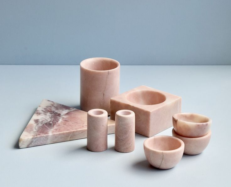 Maison & Objet 2018 : Выбор Design Mate : Домашняя утварь из розового мрамора, Stoned, Нидерланды