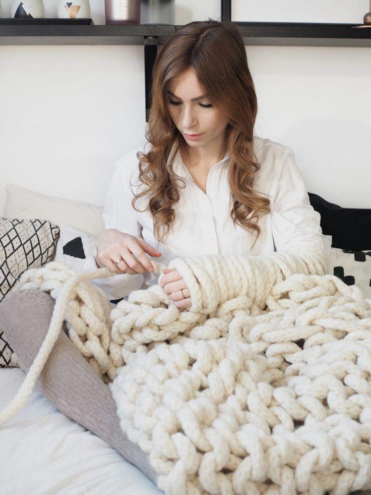 diy xxxl kuscheldecke von we are knitters stricken f r. Black Bedroom Furniture Sets. Home Design Ideas