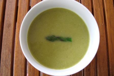 Creamy Creamless Asparagus Soup