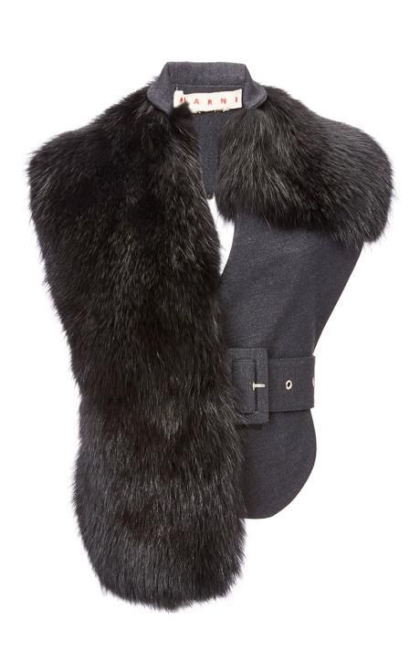 Marmot Fur Vest by Marni for Preorder on Moda Operandi