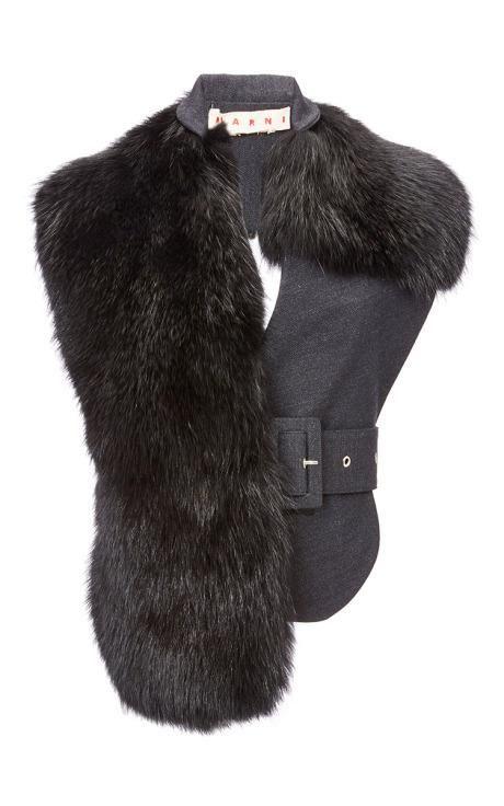 Marmot Fur Vest by Marni for Preorder on Moda Operandi