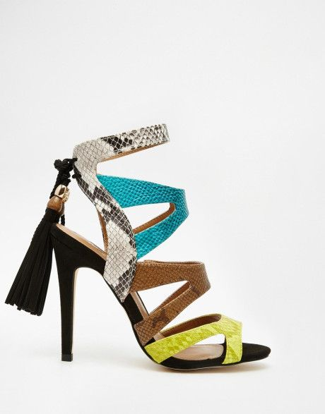 Miss kg Forest Multi Coloured Strappy Sandals in Multicolor (Multi)